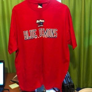 Blue Demons XL T-Shirt Red